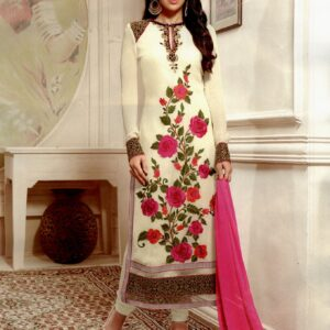 10002 CREAM AND PINK AASHIRWAD KARISHMA KAPOOR SUIT