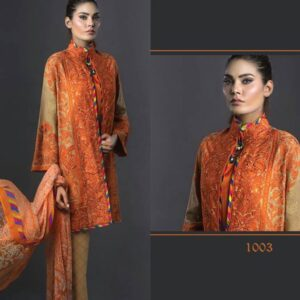 1003 ORANGE DEEPSY DESIGNER LUXURY GEORGETTE SUIT