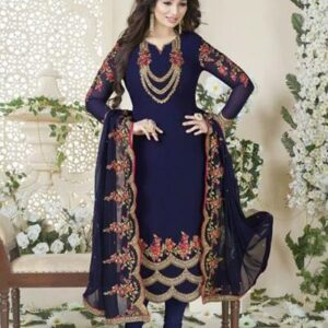 901-C BLUE AVON FASHIONISTA AYESHA TAKIA PARTY WEAR GEORGETTE SEMI STITCHED SUIT