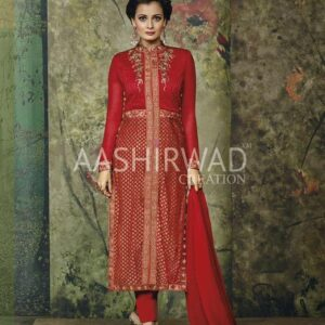 2001 RED AASHIRWAD DIA MIRZA DESIGNER WEDDING WEAR SUIT