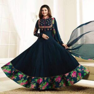 5731 SAILOR BLUE KASEESH PRACHI GALAXY DESIGNER ANARKALI DRESS