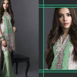 1006 GREEN DEEPSY DESIGNER LUXURY GEORGETTE SUIT