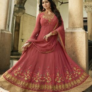 PINK INDIAN PARTY AND WEDDING ANARKALI GOWN