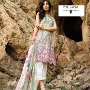 10003 DEEPSY FLORENT-4 PURE CAMBRIC COTTON EMBROIDERED PAKISTANI SUIT