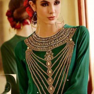 10008 RUSTIC GREEN SAHIBA AAZEEN PARTY WEAR SUIT