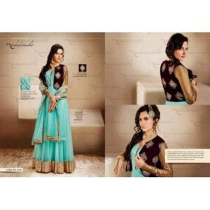 AQUA GREEN WITH PLUM Nakkashi Heavy Bridal EID Designer Dress ( XL READYMADE SUIT)